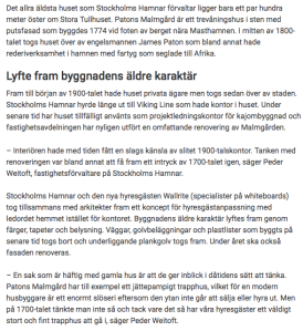 Stockholms Hamn om Patons Malmgård